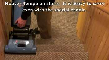 Hoover Tempo Widepath on Stairs