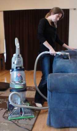 Hoover SteamVac Hose on Couch