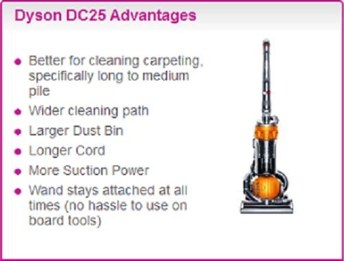 Dyson Comparison DC25